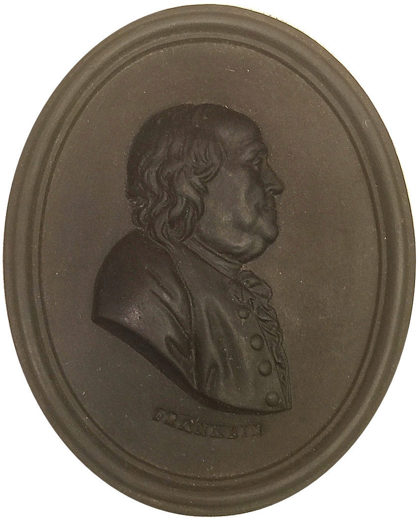 1769 Important Wedgwood Portrait Medallion - Modelled from Life - while Franklin was in England