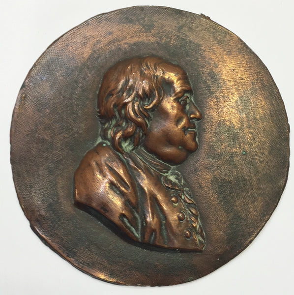 1780's Benjamin Franklin Sèvres Portrait Copper Medallion