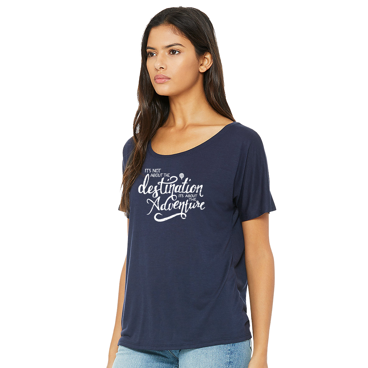 """IT'S NOT ABOUT THE DESTINATION, IT'S ABOUT THE ADVENTURE"" quote - premium slouchy"