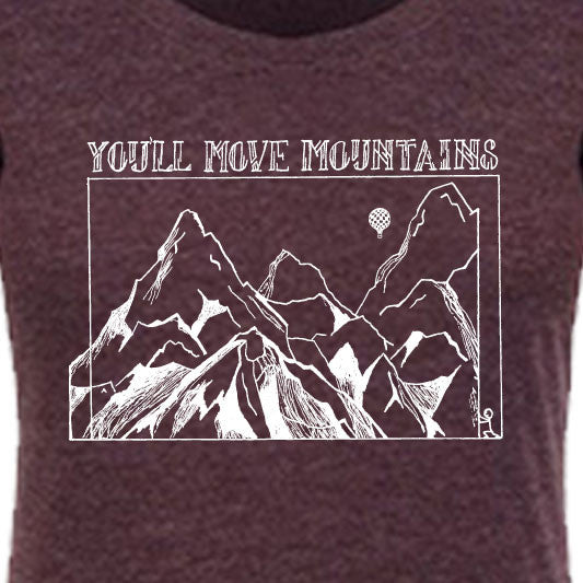 """YOU'LL MOVE MOUNTAINS"" scoop/vintage purple"