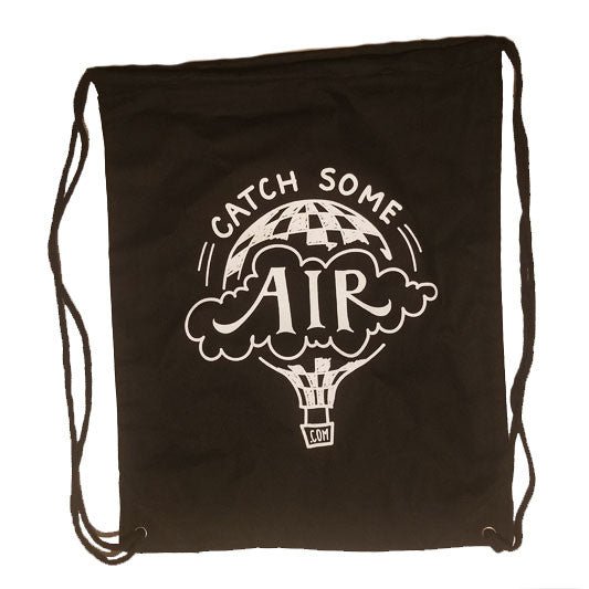 """CATCH SOME AIR"" drawstring bag/black"