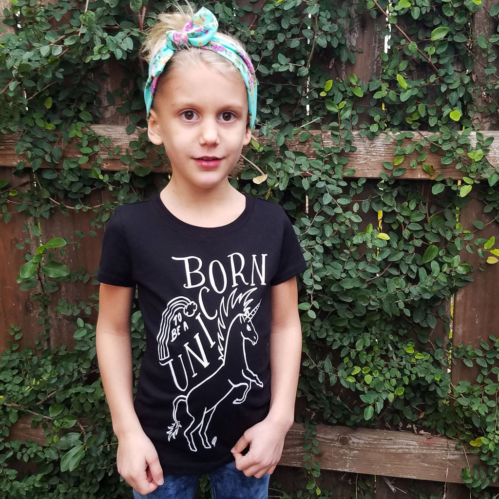 BORN to be a UNICORN | girls tshirt