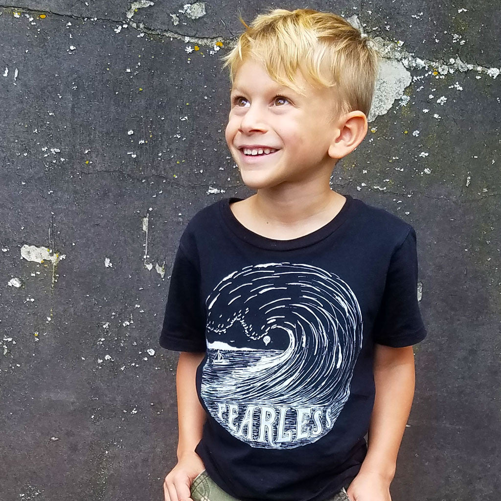 FEARLESS | boys tshirt | black