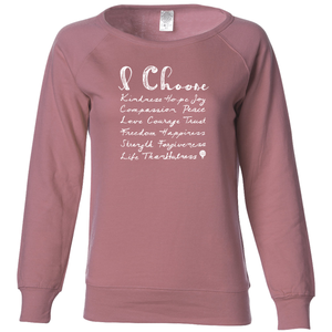 I CHOOSE... | women lightweight sweatshirt | pink