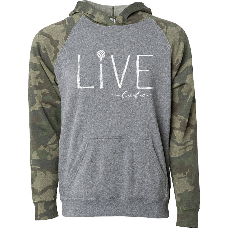 LIVE LIFE | kids pullover hoodie | gray/camo