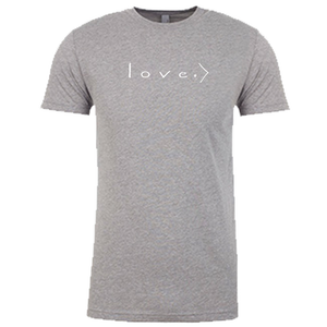 LOVE IS GREATER | unisex tshirt | heather gray