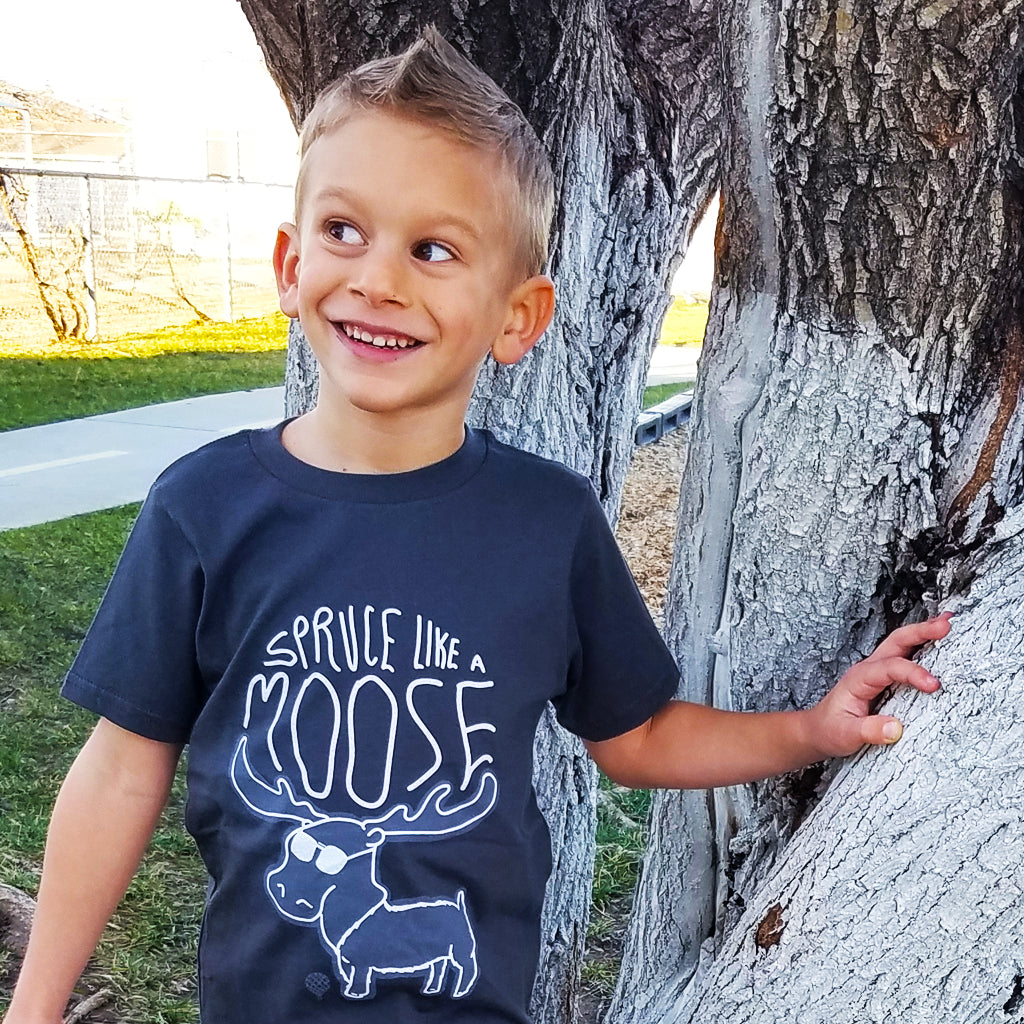 SPRUCE Like a MOOSE | boys tshirt | gray