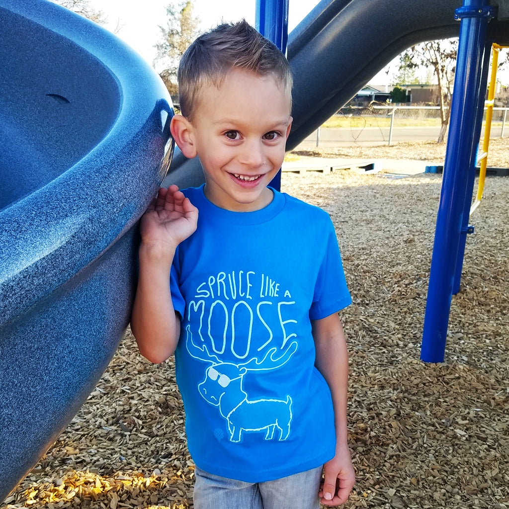 SPRUCE Like a MOOSE | boys tshirt | turquoise