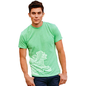 CRUSHIN Dino Eating Pizza | unisex tshirt | apple green