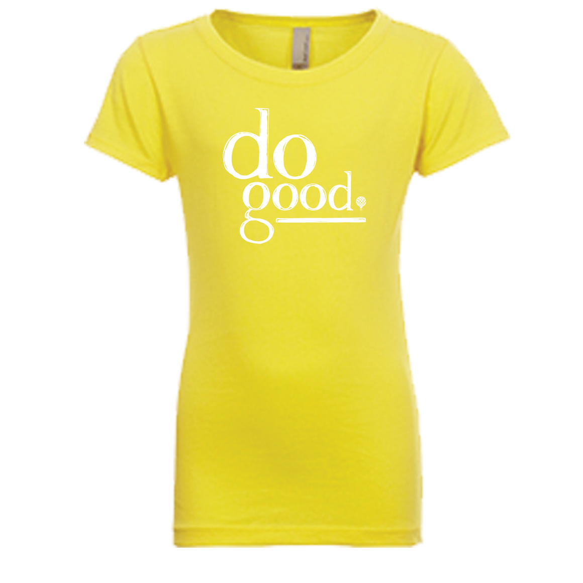"""DO GOOD"" kids crew/yellow"