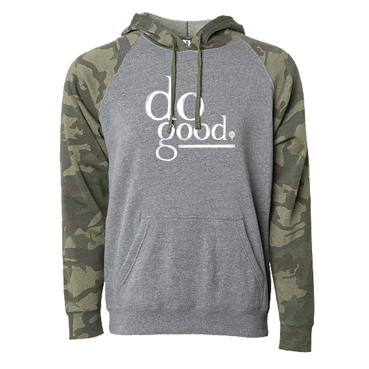 """DO GOOD"" camo pullover hoodie"