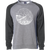 """FEARLESS"" raglan crew sweatshirt - charcoal sleeves/gray body"