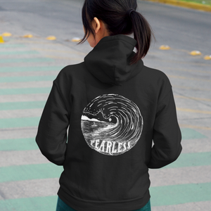 """FEARLESS"" lightweight womens zip up hoodie"