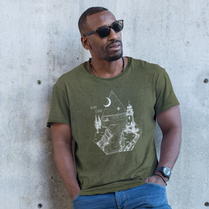 GIVE LIGHT | unisex tshirt | military green