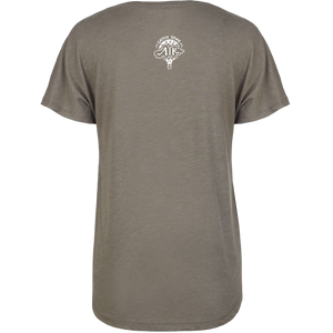 GIVE LIGHT | women scoop tee | venetian gray