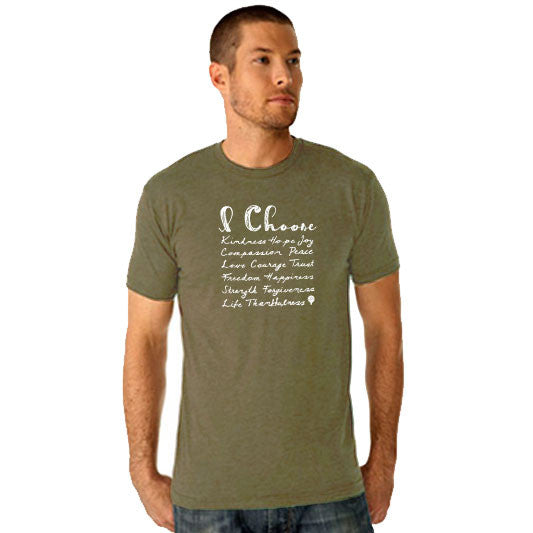 """I CHOOSE..."" crew/military green"