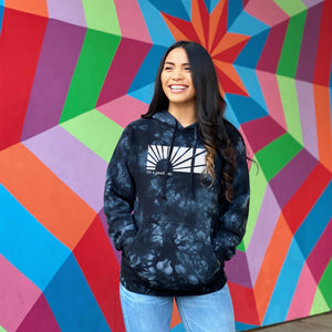 IT'S A GOOD DAY | unisex pullover hoodie | tie dye BLACK