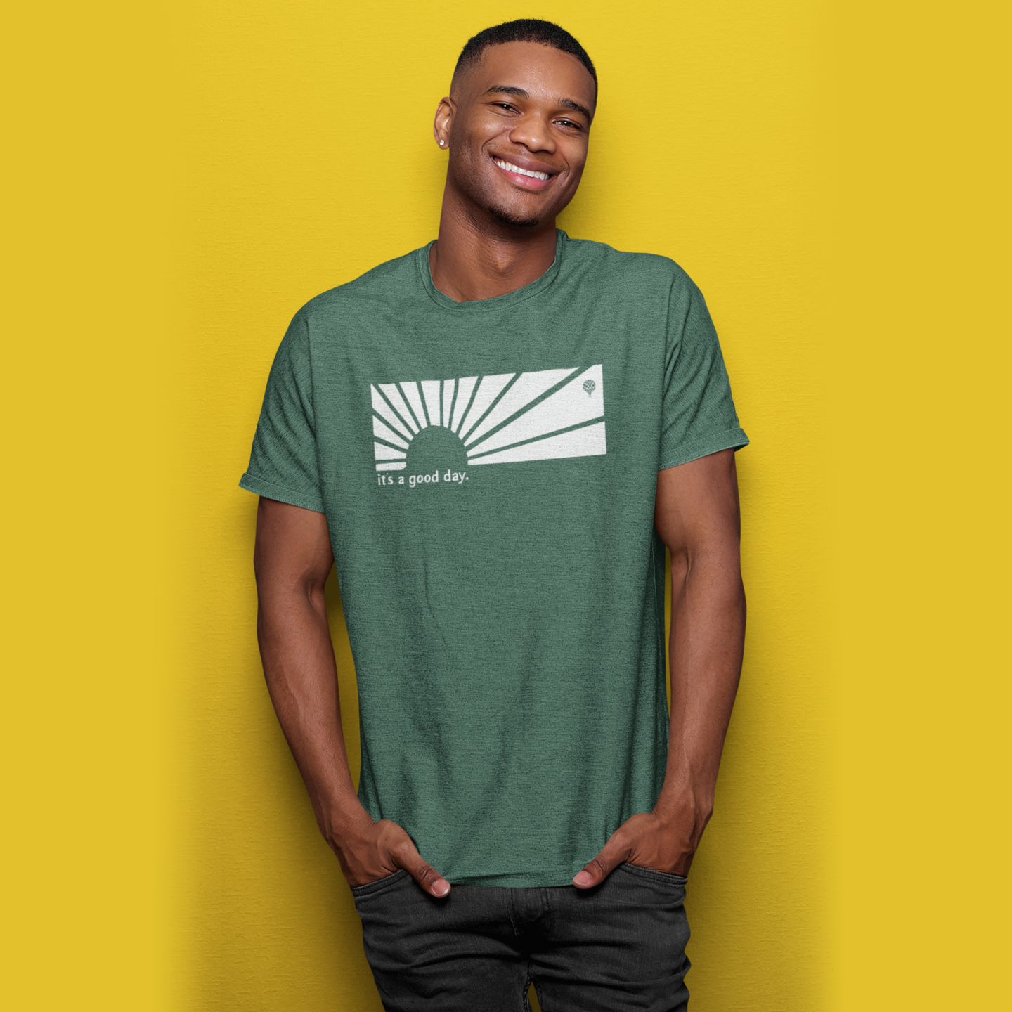 IT'S A GOOD DAY | unisex tshirt | forest green