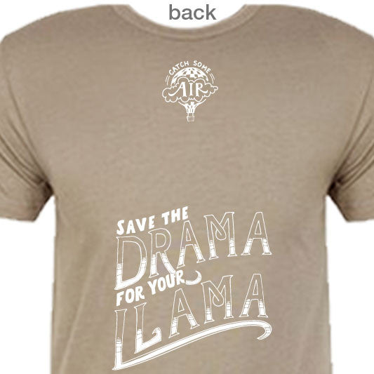 """SAVE THE DRAMA FOR YOUR LLAMA"" crew/stone gray"