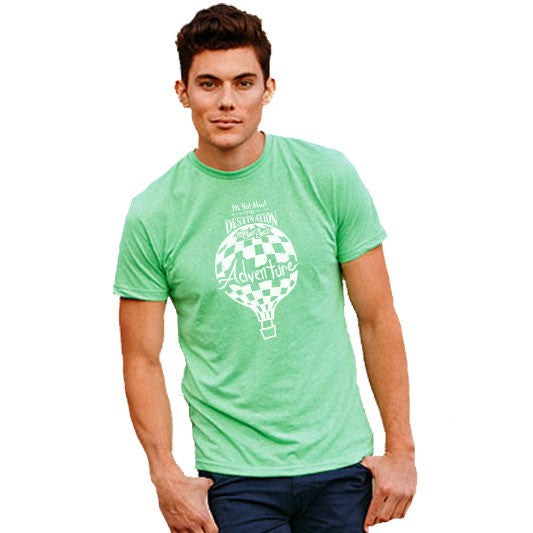 It's Not About The DESTINATION It's About The ADVENTURE (balloon) | unisex tshirt | apple green