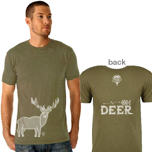 """OH DEER"" crew/military green"