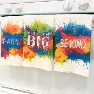 DREAM BIG | flour sack dish towel