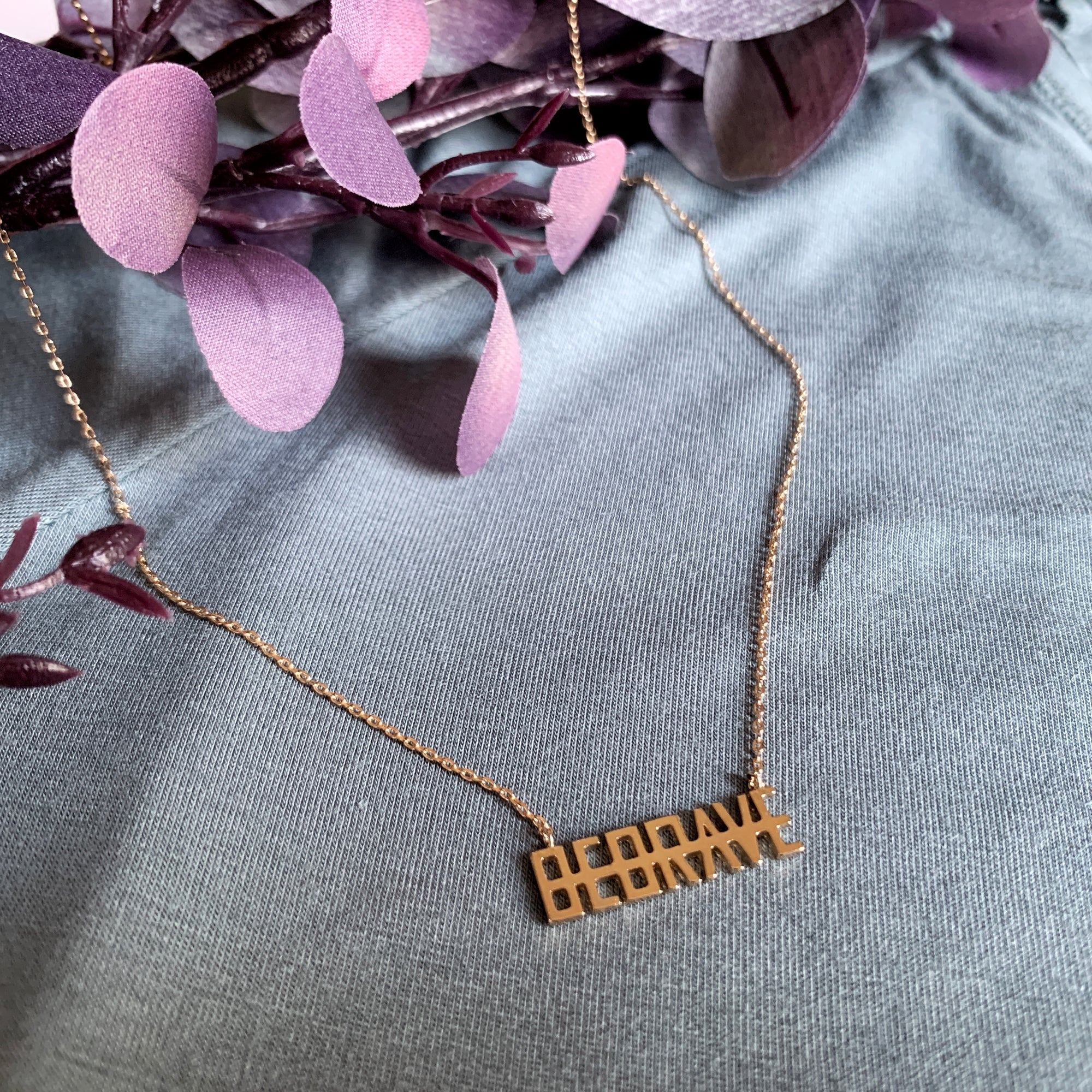 """BRAVE"" necklace"