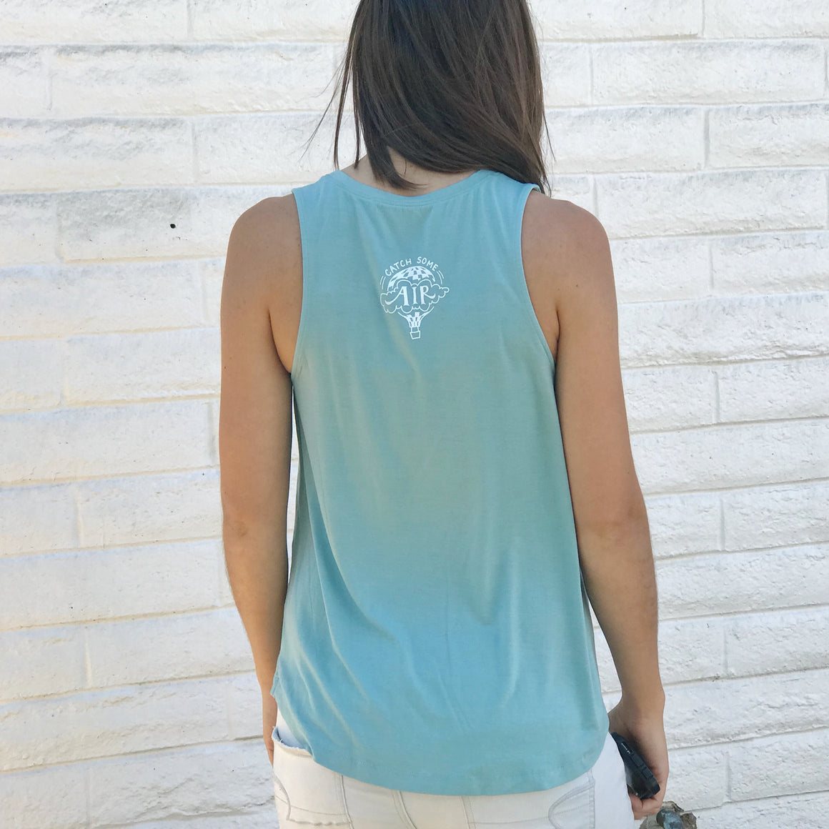 """BE KIND"" flowy tank/blue-green"