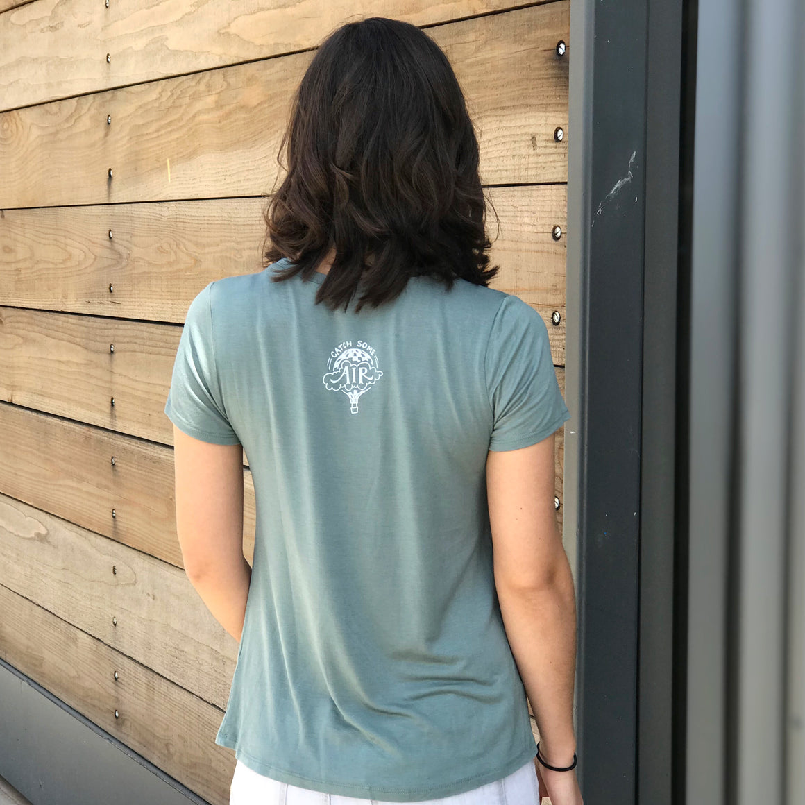 """BE KIND"" vneck/sage green"