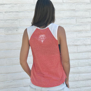 DREAM BIG | women muscle tank | coral
