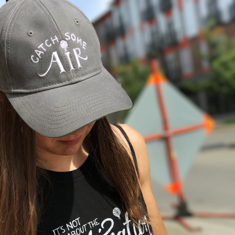 """CATCH SOME AIR"" baseball cap/gray"