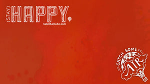 STAY HAPPY | zoom background - red [FREE DOWNLOAD!]