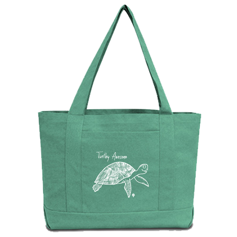 """TURTLEY AWESOME"" tote bag"
