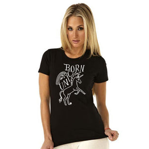 """BORN TO BE A UNICORN"" crew/black"