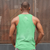 STAY HAPPY | mens tank | green
