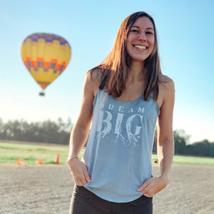 DREAM BIG | women tank | stonewash denim