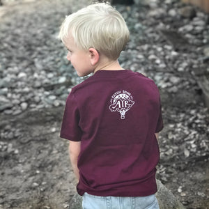 RISE ABOVE | boys crew | maroon