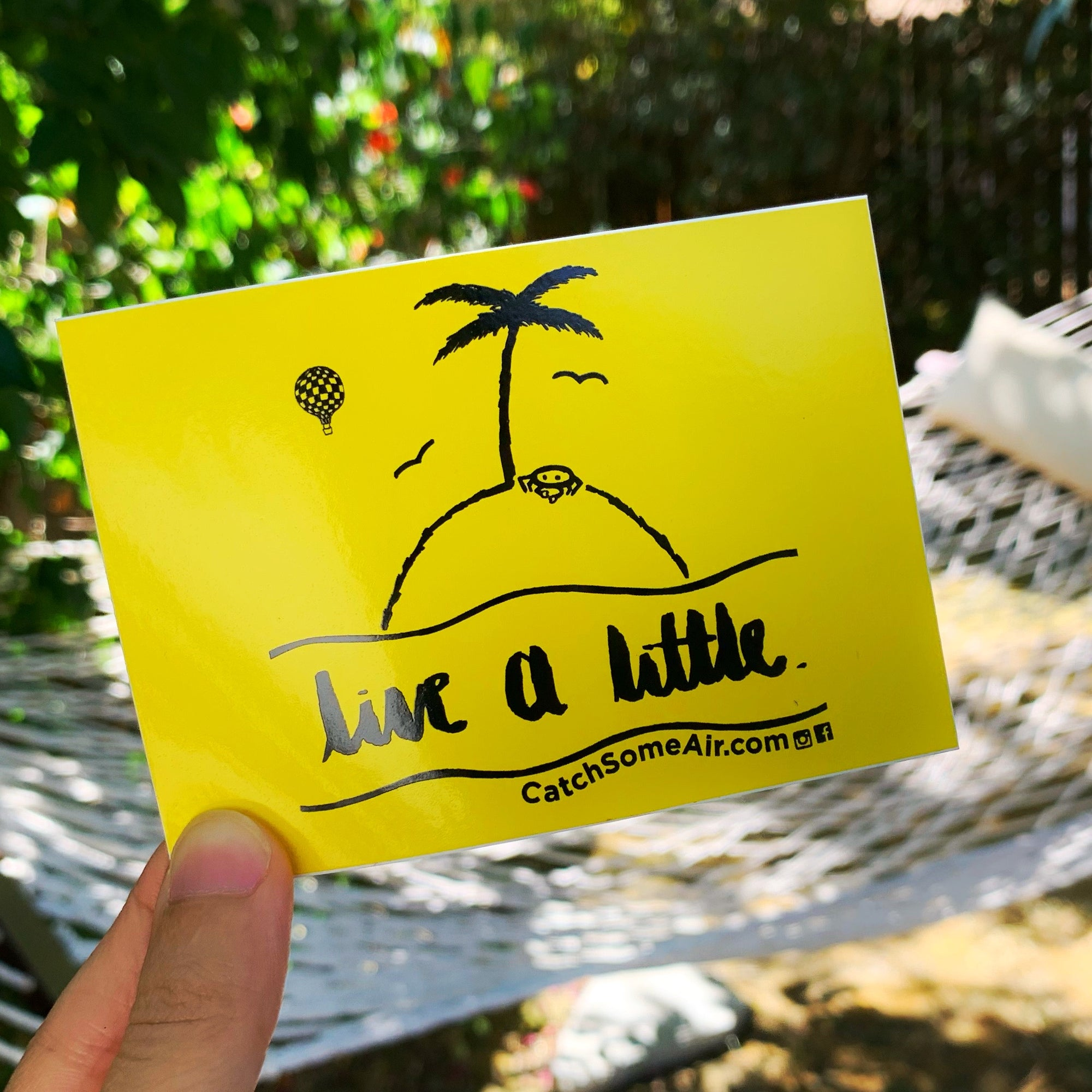 LIVE A LITTLE | sticker