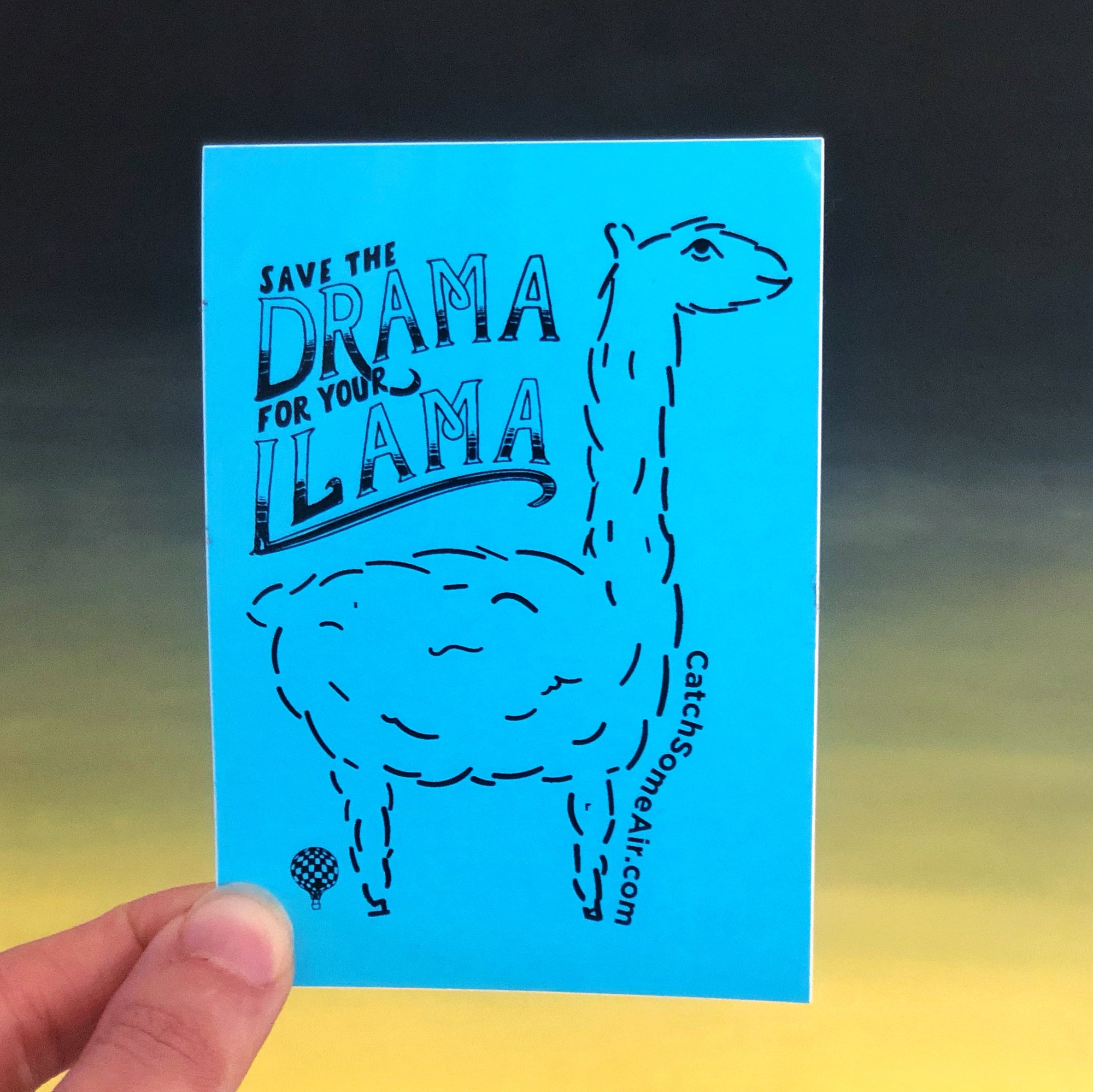 Save The DRAMA For Your LLAMA | sticker