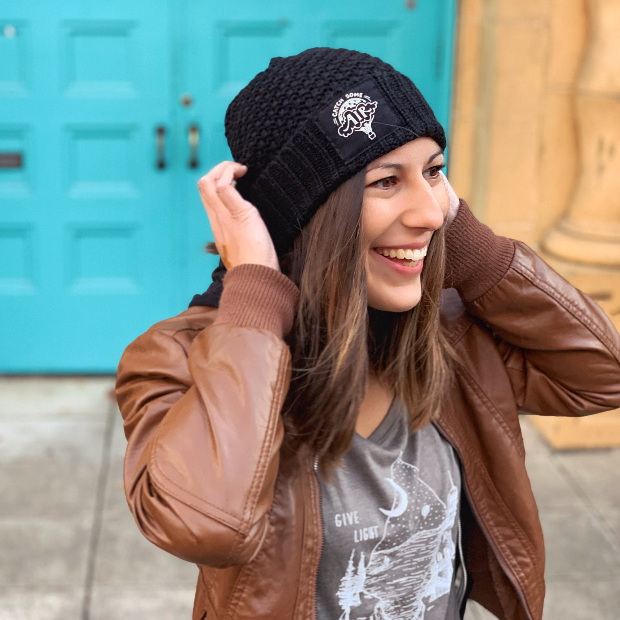 CATCH SOME AIR | beanie - cuffed | black