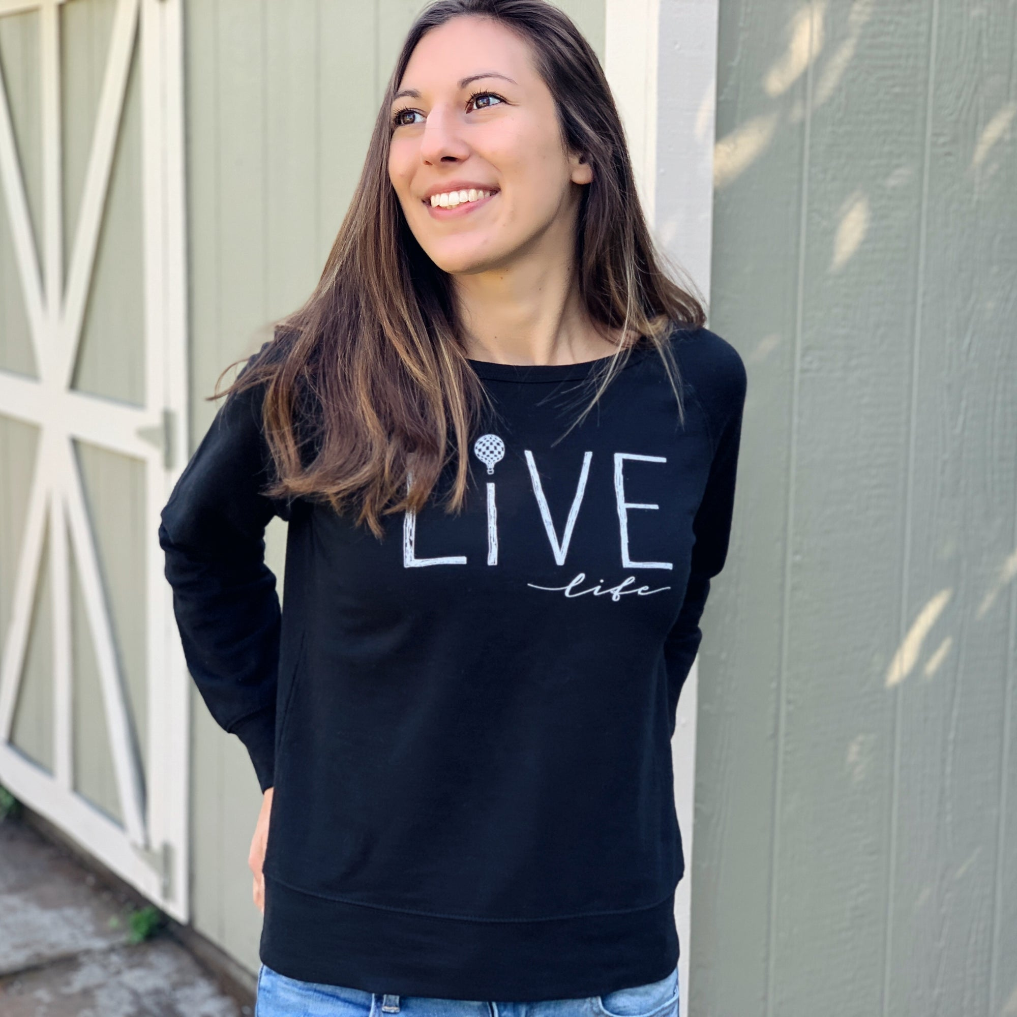 LIVE LIFE | women lightweight sweatshirt | black