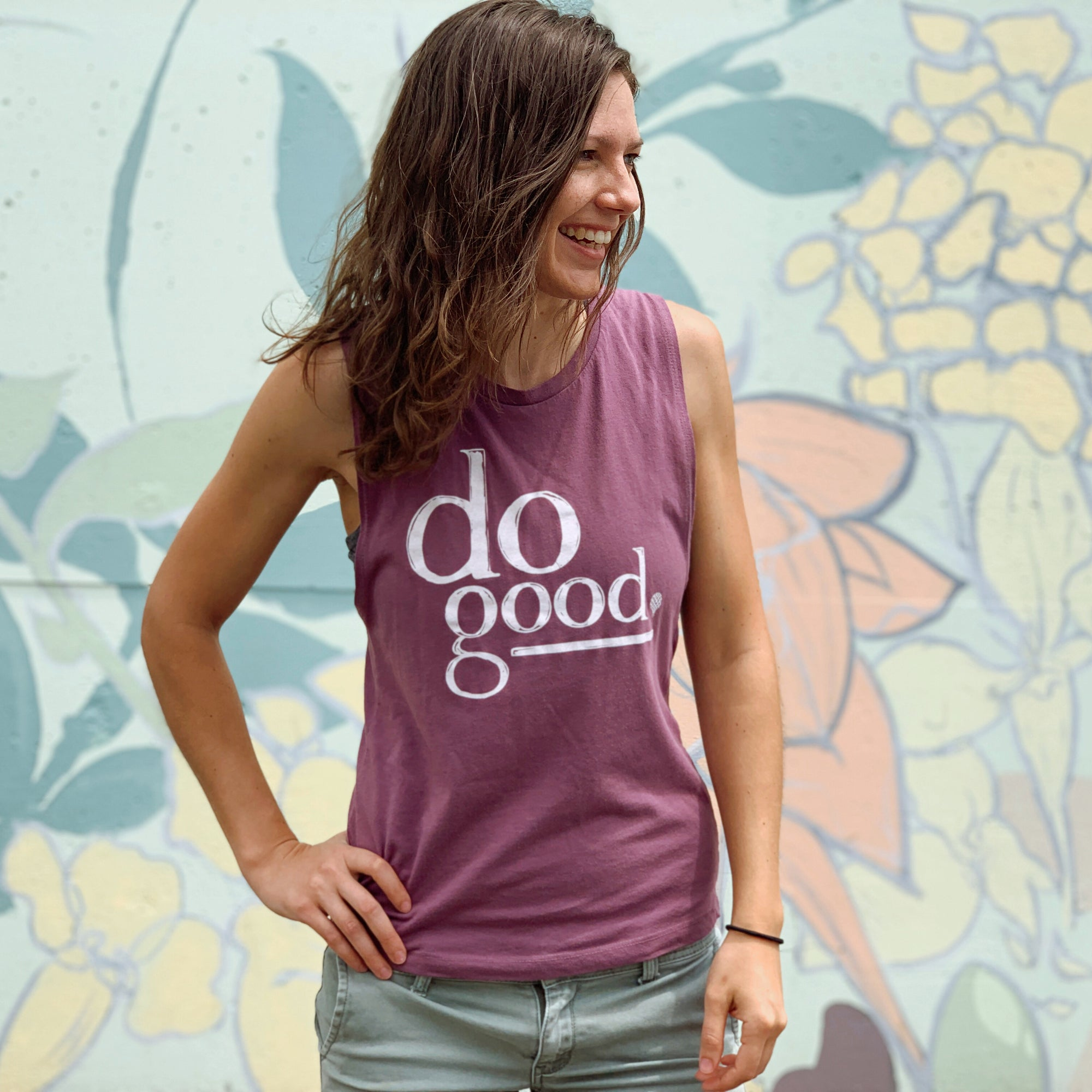 DO GOOD | women muscle tank | shiraz purple