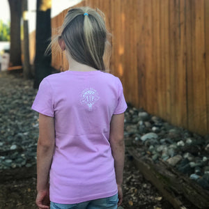 LOVE IS GREATER | girls tshirt | lilac