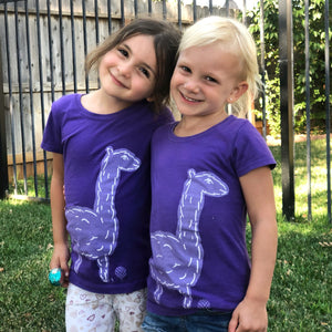 Save The DRAMA For Your LLAMA | girls tshirt | purple