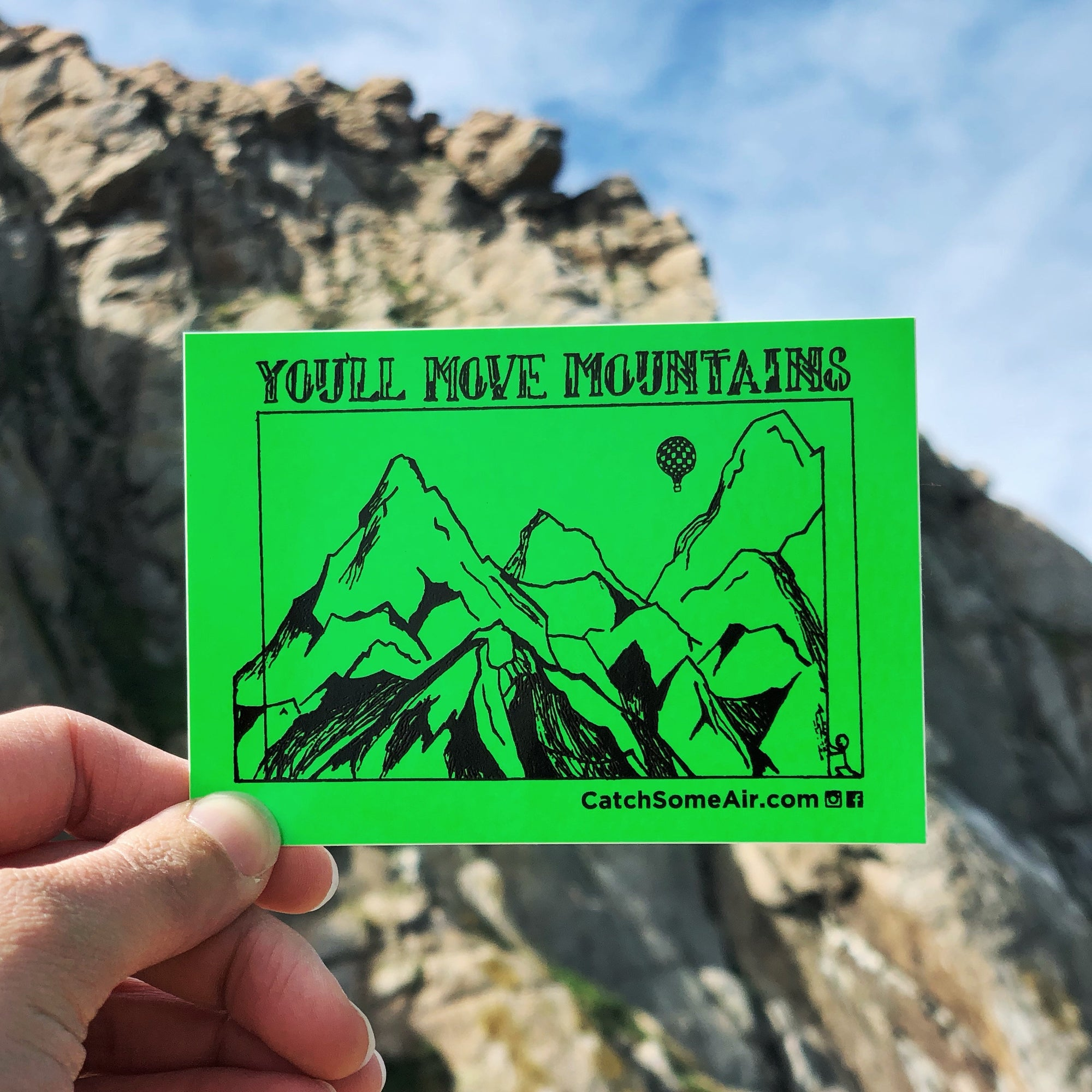 YOU'LL Move MOUNTAINS | sticker