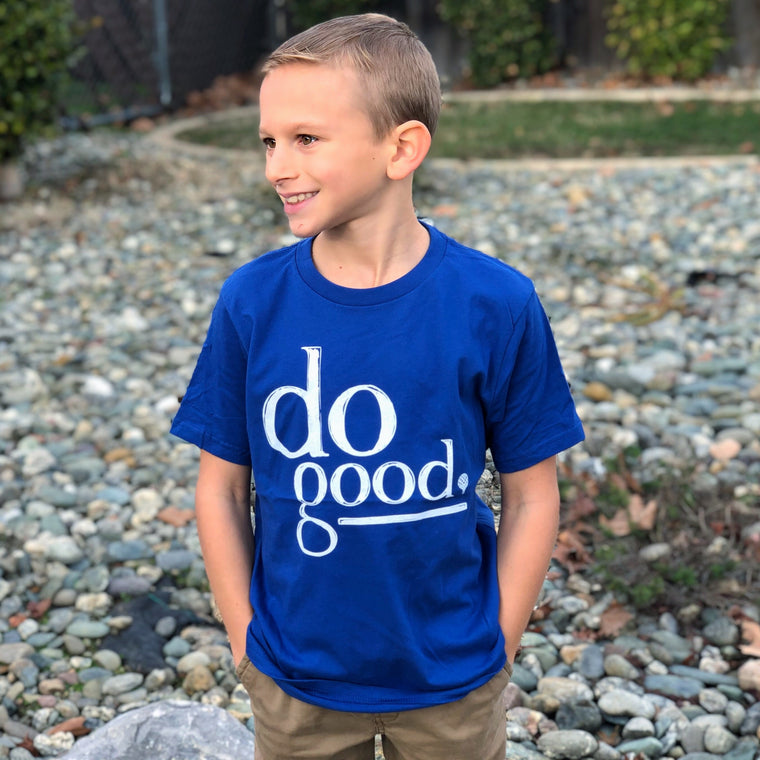 """DO GOOD"" kids crew/royal"