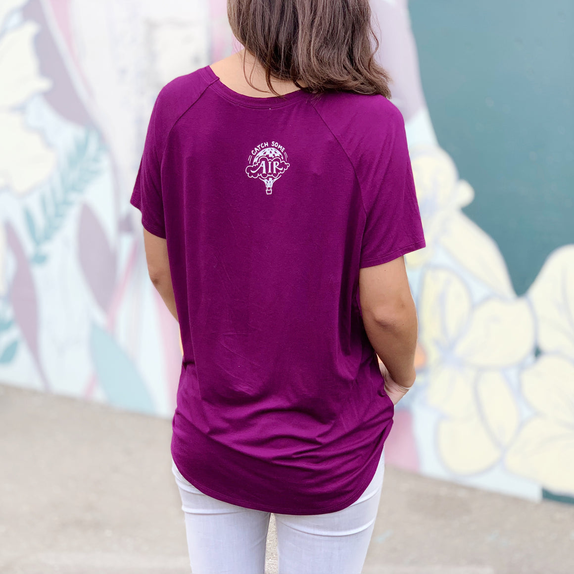 """I CHOOSE..."" flowy vneck/purple"