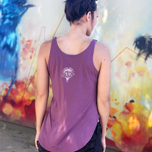 LIVE A LITTLE by #TeamMaddy | women tank | shiraz purple