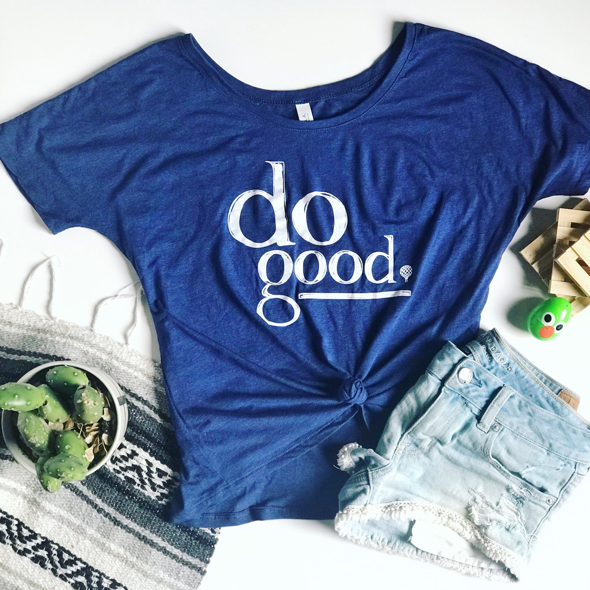 DO GOOD | women premium slouchy tee | navy