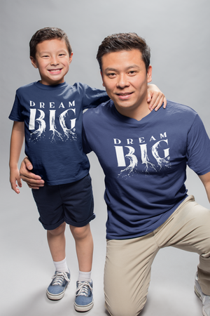 DREAM BIG | unisex tshirt | heather navy